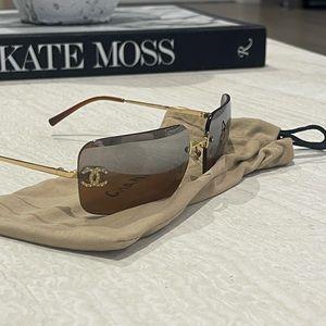 Vintage Chanel CC brown sunglasses